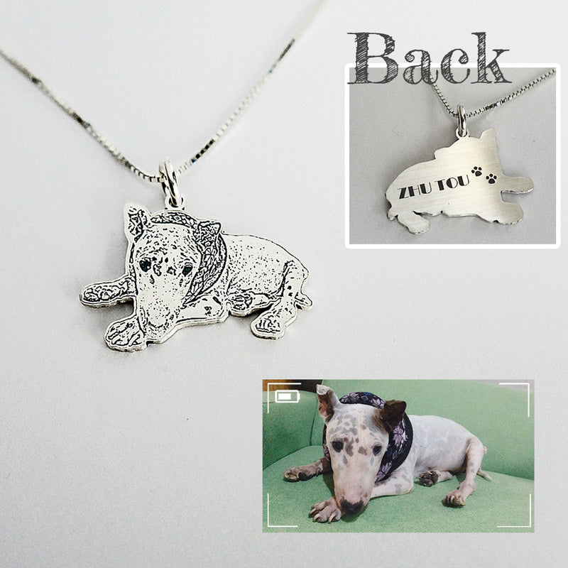 Personalized Picture Necklace in 999 Silver-fur babies - Del Valle