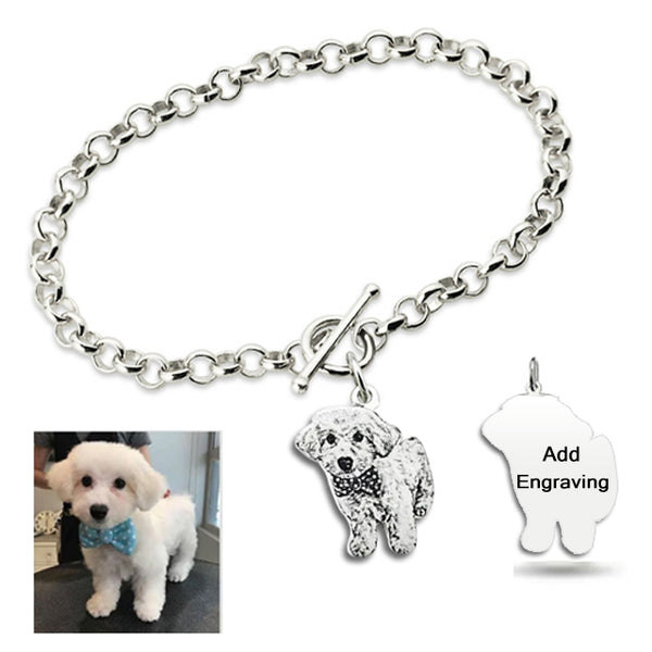 Personalized Photo Bracelet Silver - Del Valle