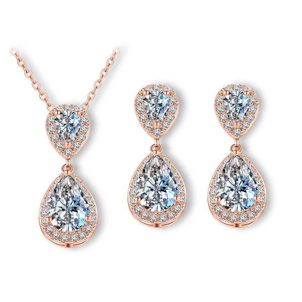 Stella Stud Drop Jewel Set - Del Valle