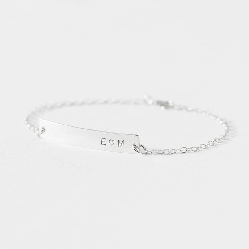 Personalized Name Bar Bracelets - Del Valle