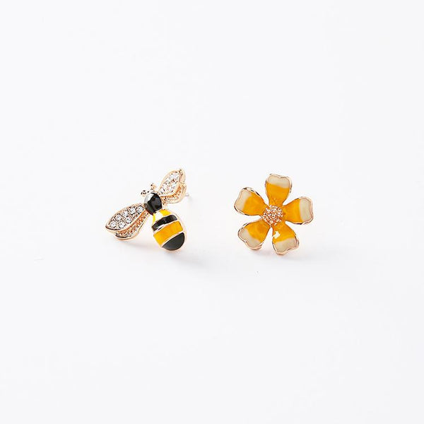 Bee & Flower Earrings - Del Valle