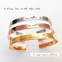 Personalized Handwriting Bangles - Del Valle