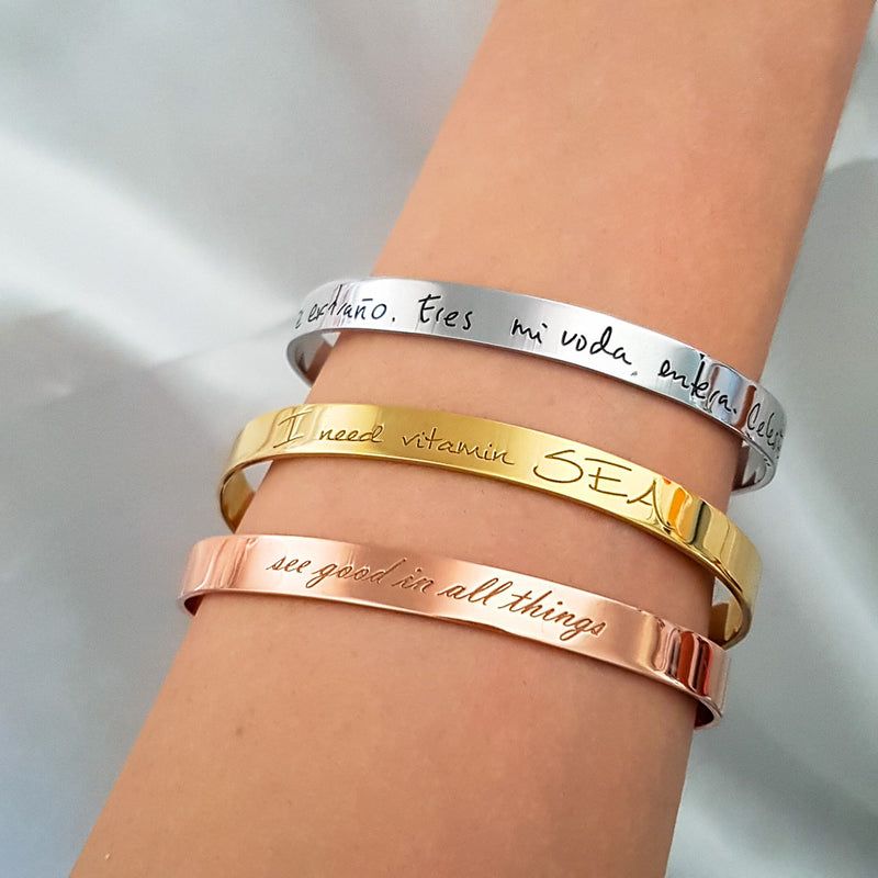 Personalized Message Bangles - Del Valle