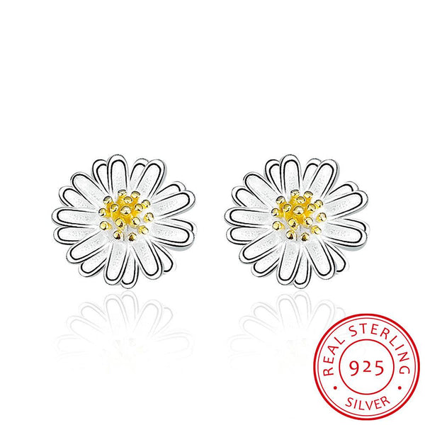 Daisy Stud Earrings 925 Sterling Silver - Del Valle