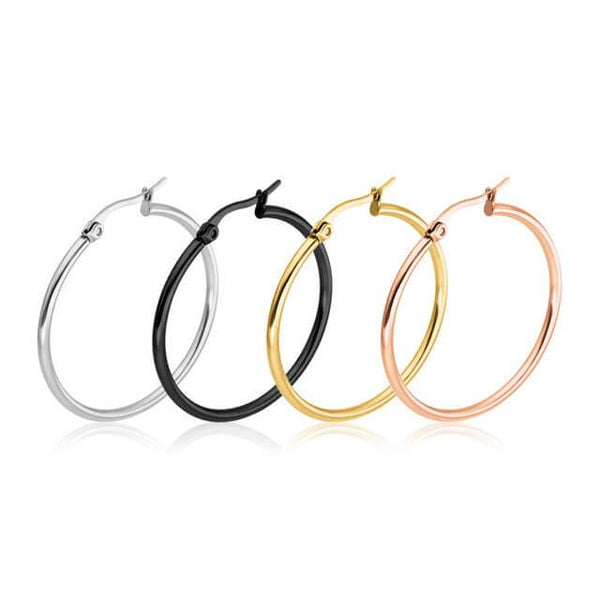 Jessica Hoop Stainless Steel Earrings - Del Valle