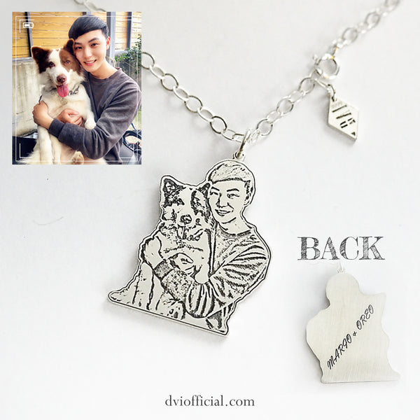 Personalized Picture Necklace in 999 Silver - Del Valle