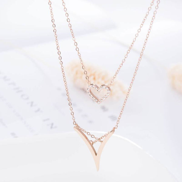 Rose Gold Goddess Hypoallergenic Stainless Steel Dainty Necklace - Del Valle