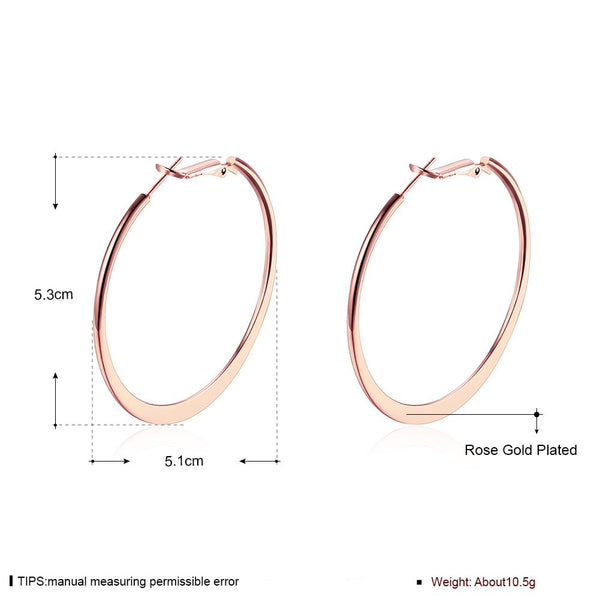 Rose Gold Hoop Earrings - Del Valle