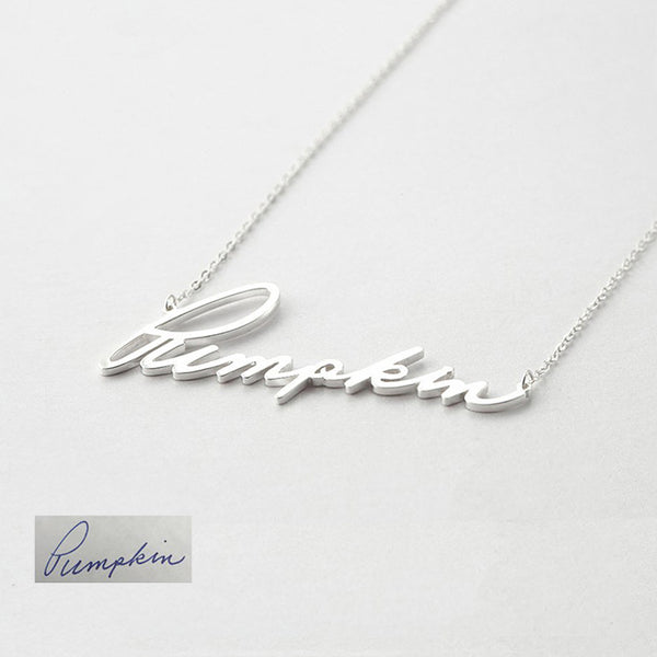 Personalized Signature Necklace - Del Valle