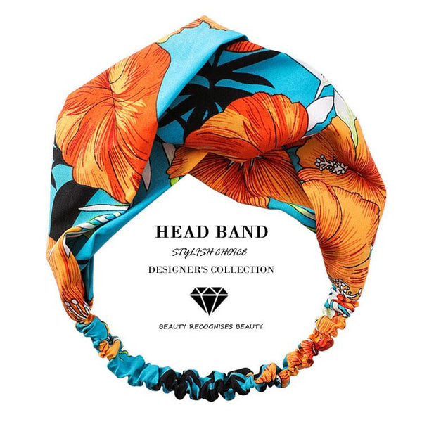 Sunset Spray Floral Top Knot Headband - Del Valle
