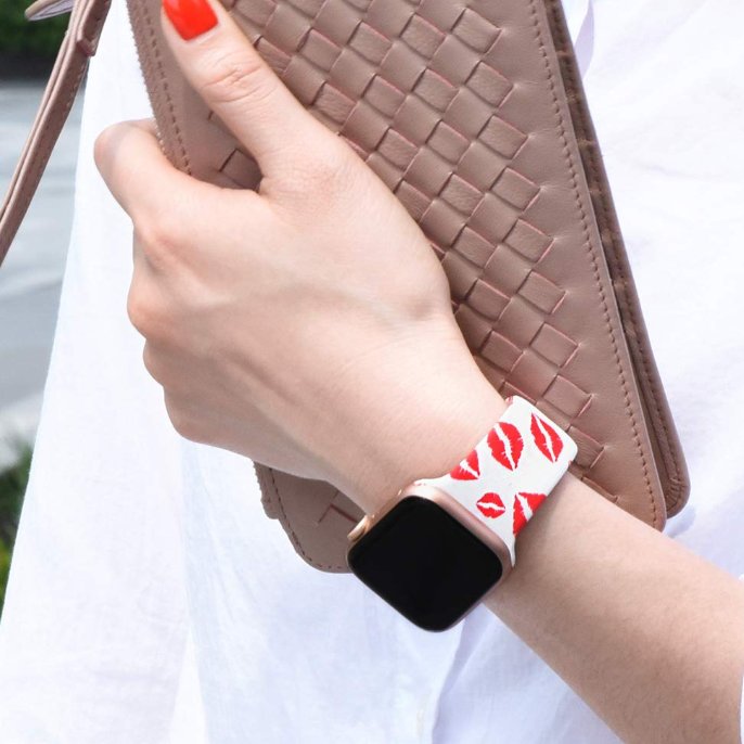 Apple Watch Bands - Red Lips Print Straps