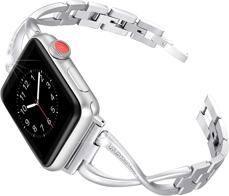 Apple Watch Bands - Stainless Steel Cuff, With Blings