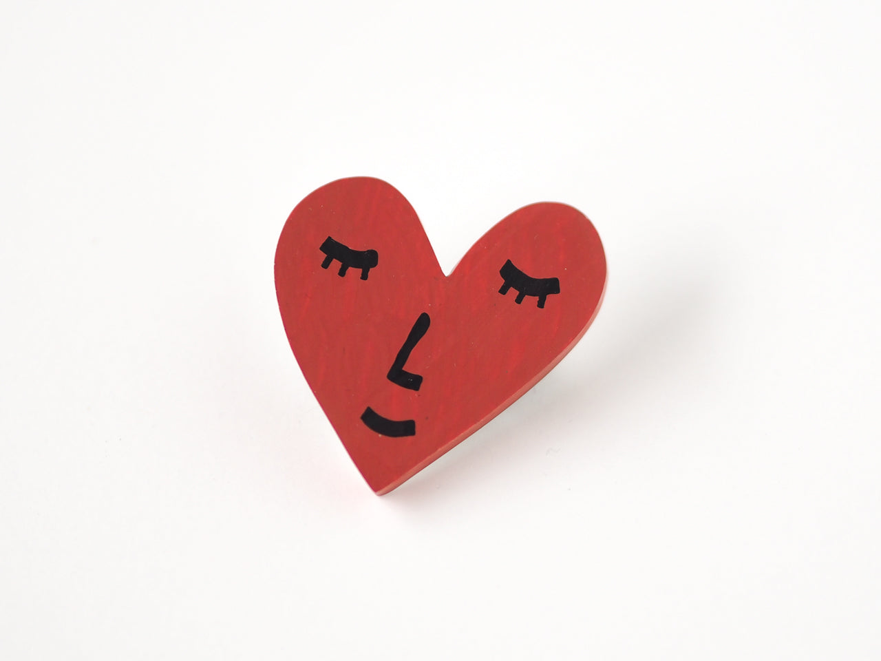 Smiling Heart Brooch Pin