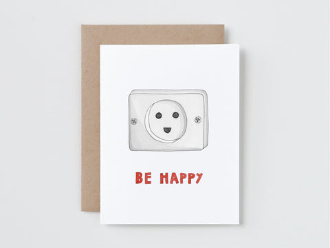 Be Happy Outlet Card