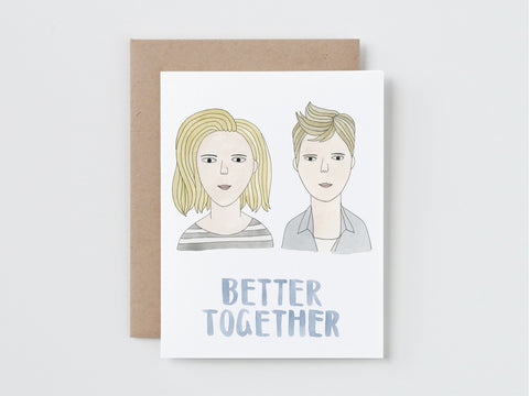Two Girls Better Together Card