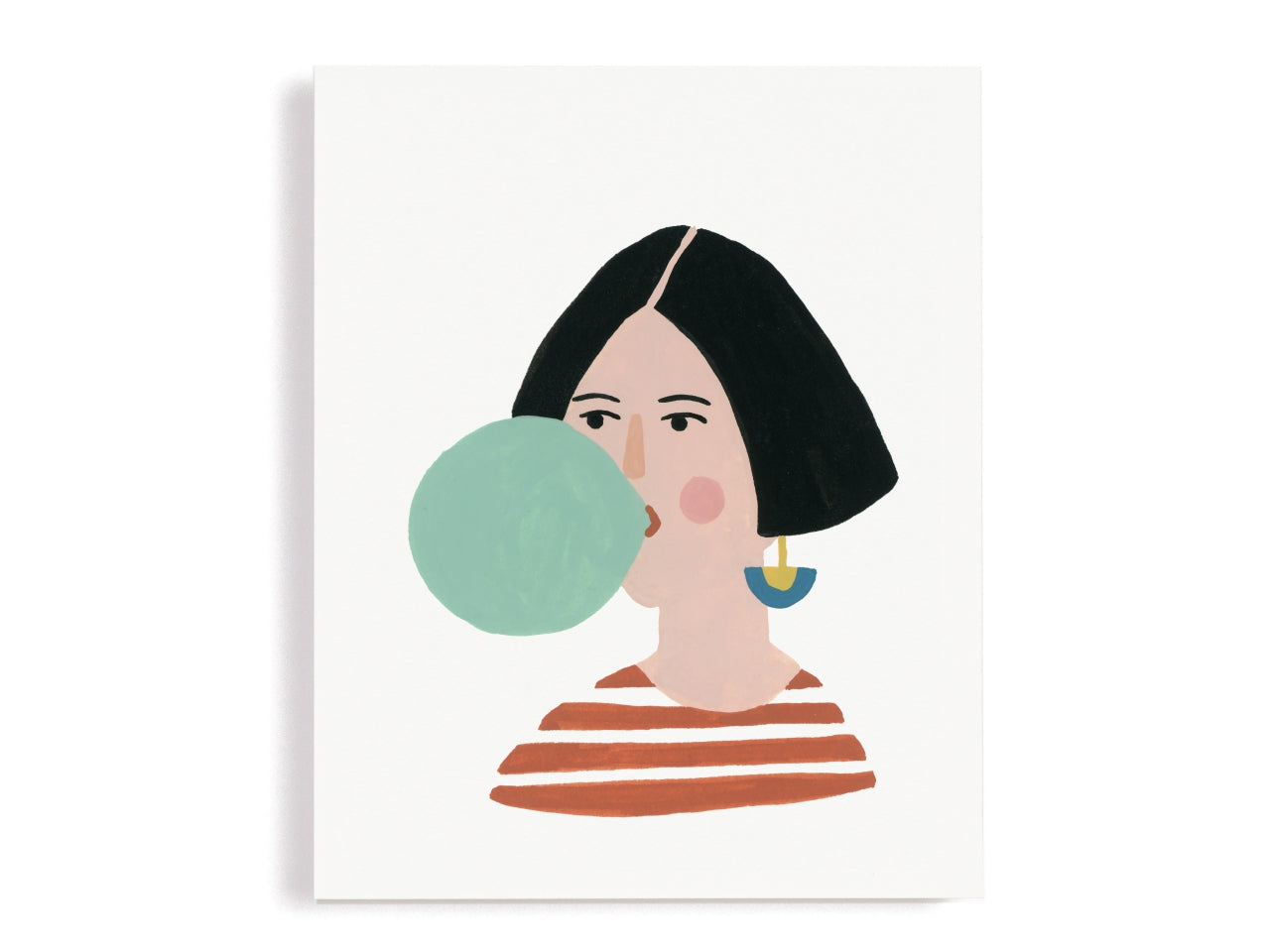 Blowing Bubble Gum Giclee Print