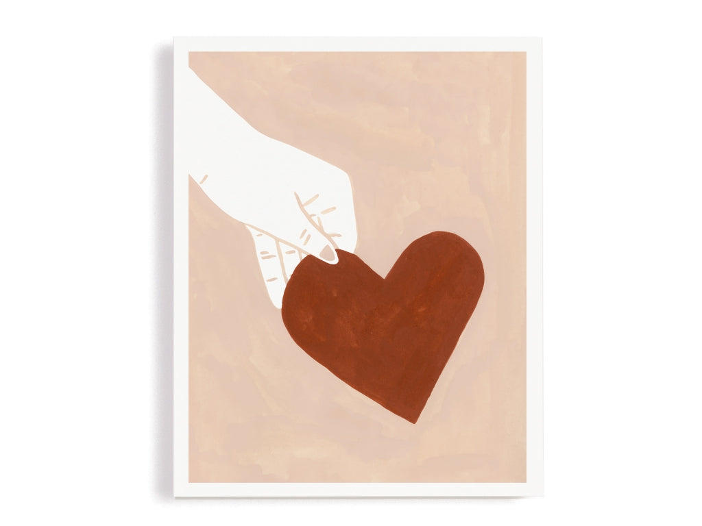 Giving My Heart Giclee Print