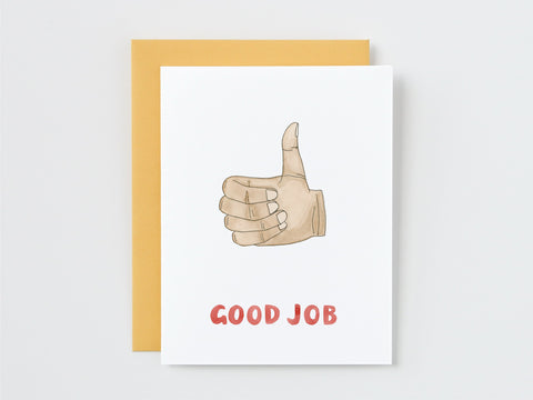 Good Job Hand Sign Card