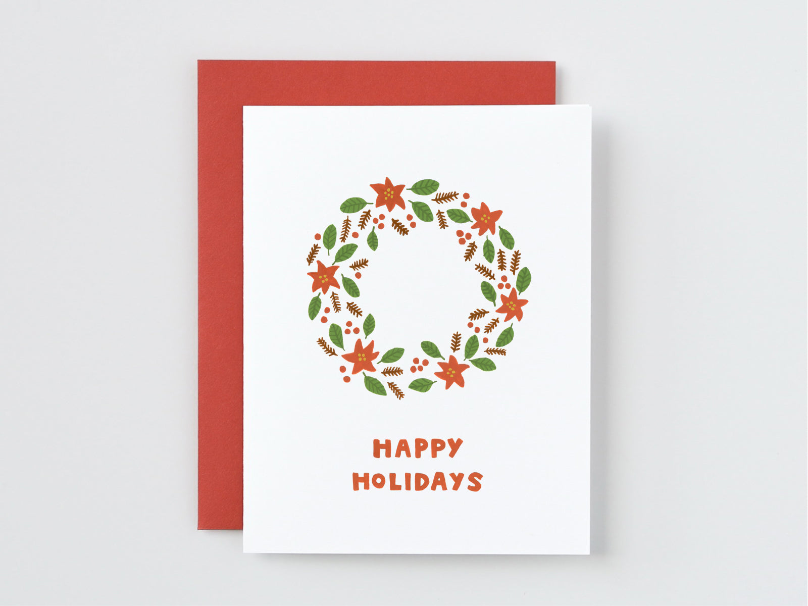 Happy Holidays Wreath Card Say Something Cards