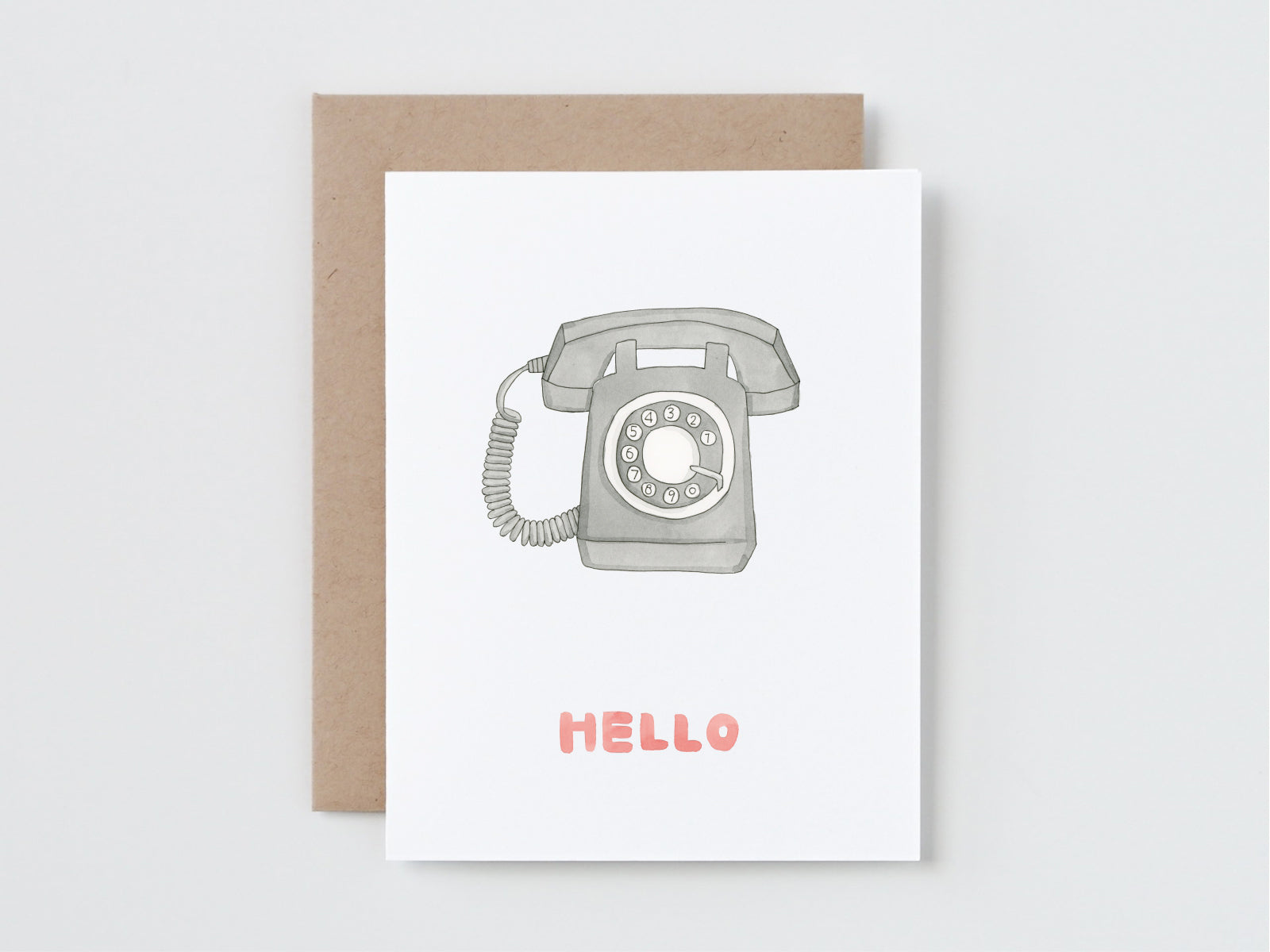 Retro Rotary Telephone Hello Card