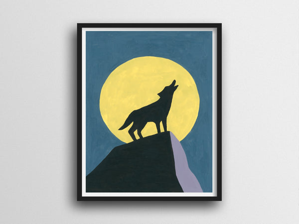 Howling Wolf Giclee Print