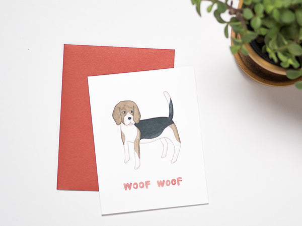 Beagle Woof Woof Card