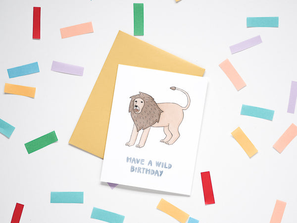 Lion Wild Birthday Card