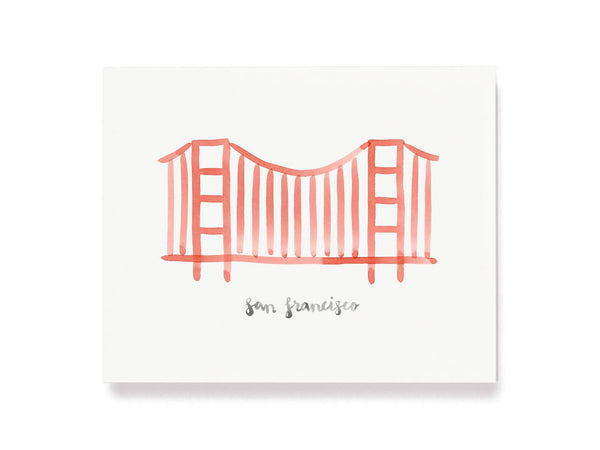 San Francisco Golden Gate Bridge Giclee Print
