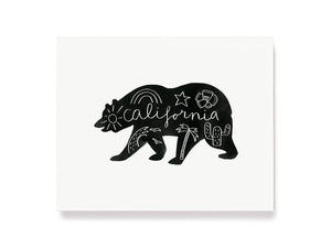 California Bear Giclee Print