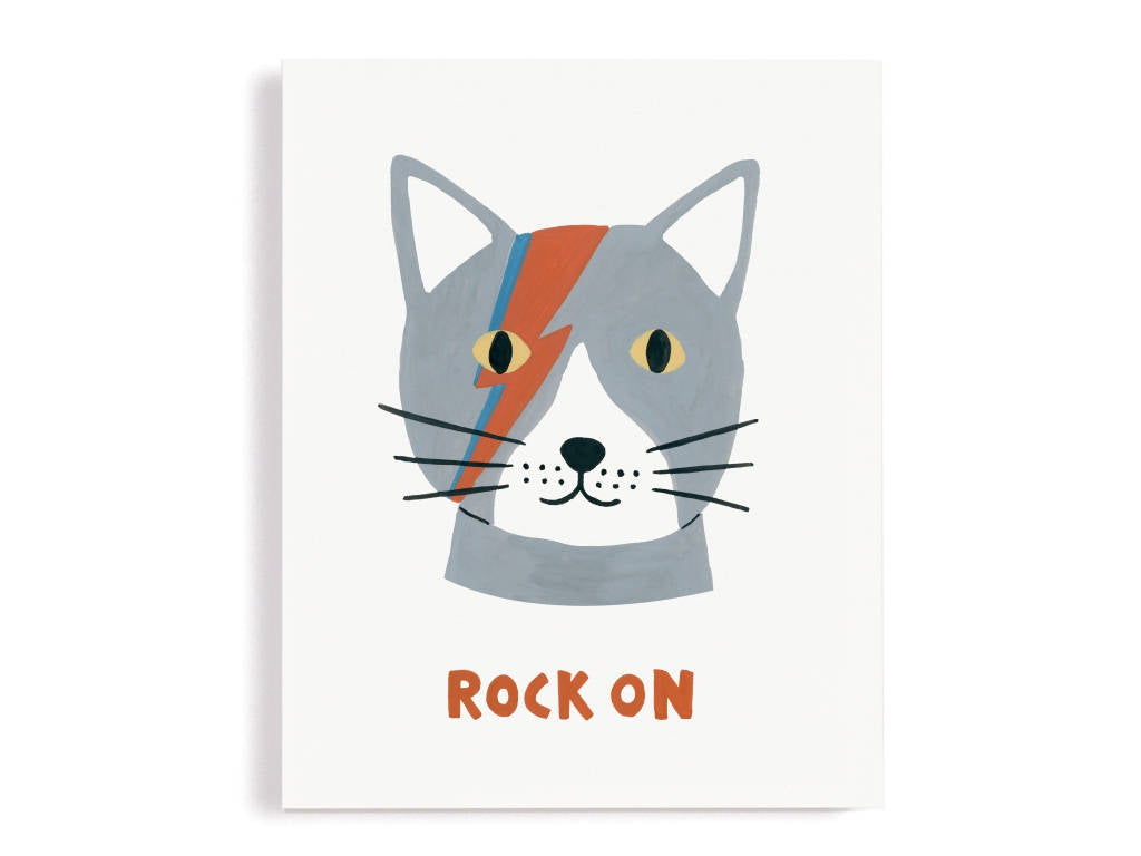 Cat Rock On Giclee Print