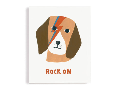 Dog Rock On Giclee Print
