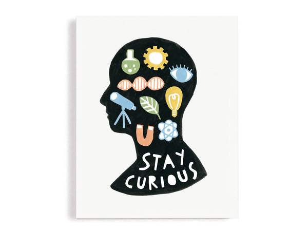 Stay Curious Science Themed Giclee Print