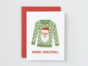Santa Christmas Sweater Card
