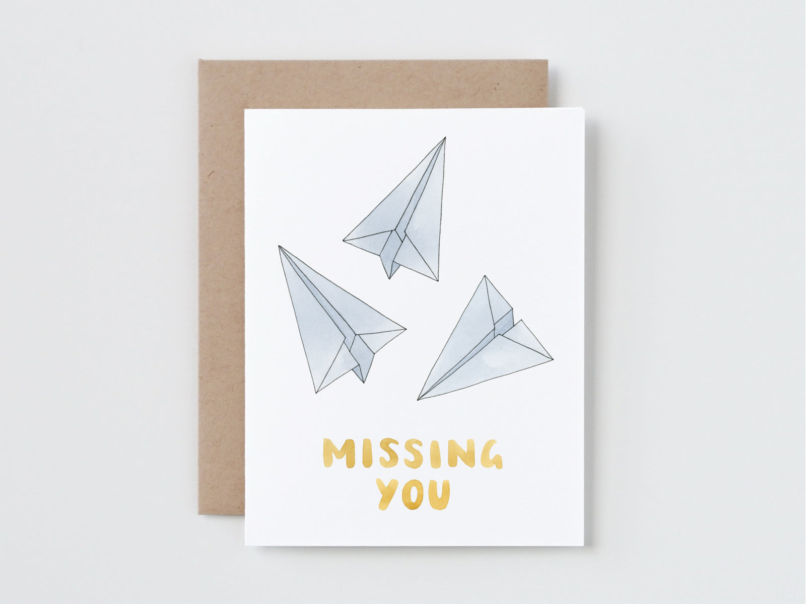 Paper Planes Missing You Card