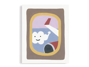 Plane Window Whimsical Giclee Print