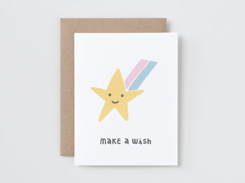 Make A Wish Shooting Star Birthday Card