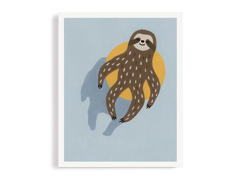 Sloth Chilling In The Pool Giclee Print