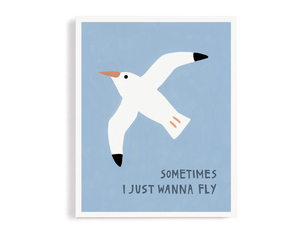 Sometimes I Just Wanna Fly Giclee Print