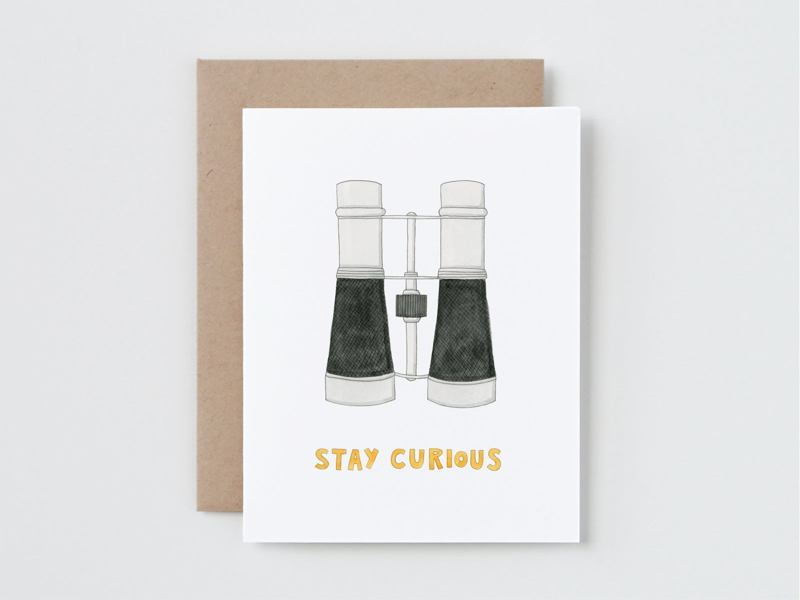 Stay Curious Binoculars Card