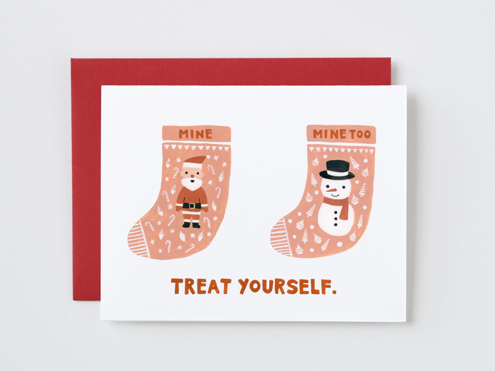 Treat Yourself Christmas Card for Singles