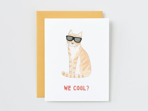 We Cool Cat with Sunglasses Card