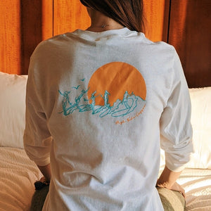 Party Wave limited edition surf art long sleeve tee shirt High Tide Coffee, San Clemente, CA
