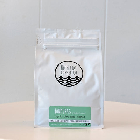 Bag of Honduras Medium Roast Coffee from High Tide Coffee Co