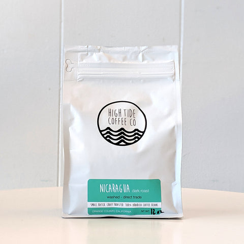 Bag of Nicaragua Dark Roast Coffee from High Tide Coffee Co