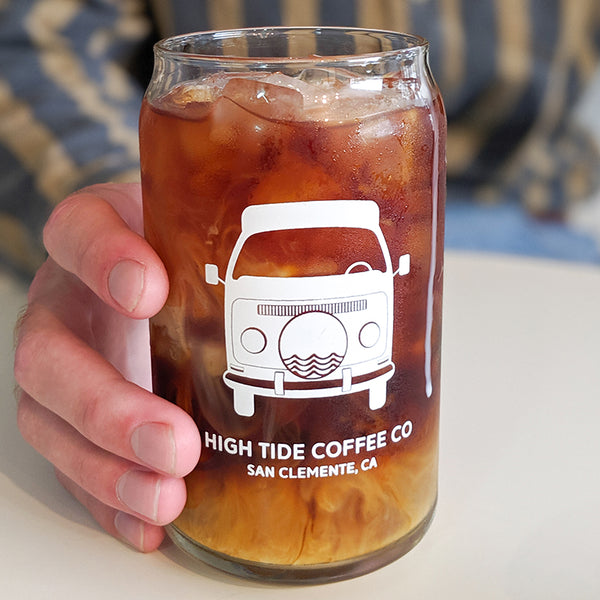 vw bus pint glass