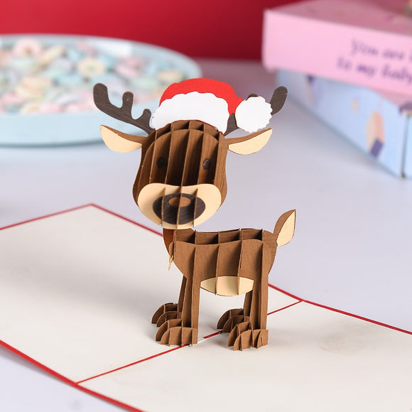 Liif Reindeer Pop Up Card