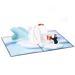 liif lovepop polar bear christmas pop up card
