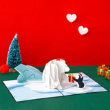 Penguin Bear 3D pop-up card