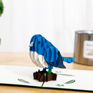Jolly Bluebird 3D pop-up card