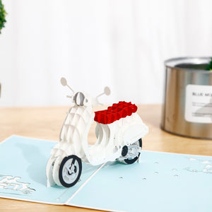 Vespa Scooter 3D pop-up card